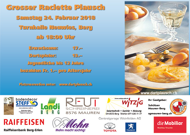 Raclettplausch Flyer