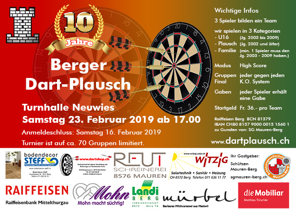 Flyer Dartplausch 2019