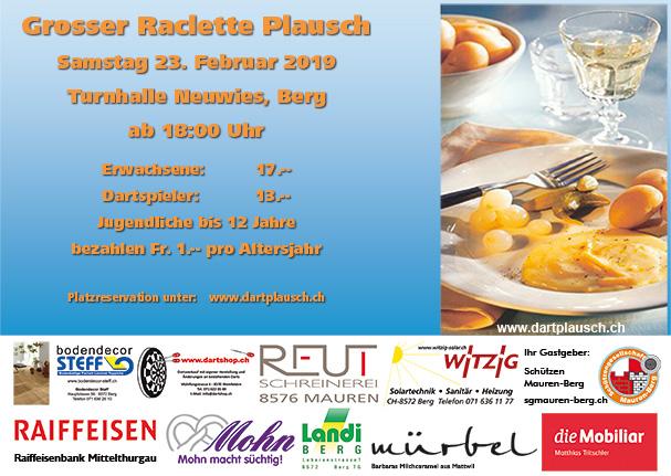 Flyer Raclett Plausch 2019