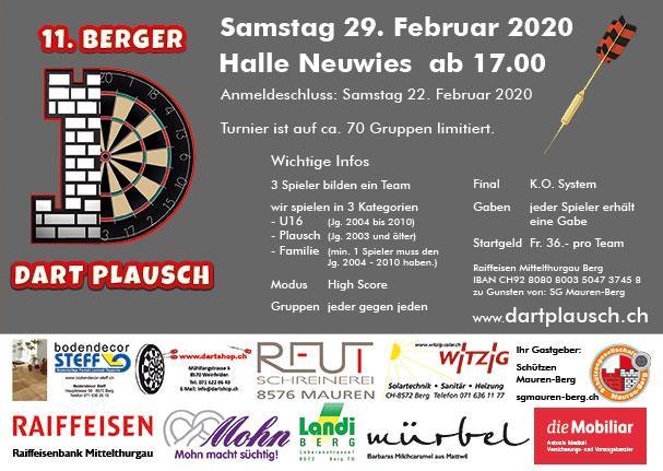 Flyer Dartplausch 2020